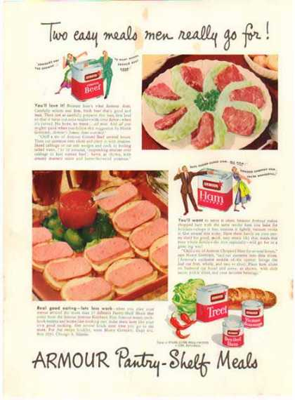 Armour Canned Meats – Pantry Shelf Meals (1950)