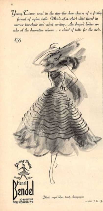 Henri Bendel Fashion Skirt Art (1952)