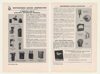 Westinghouse Electric Insulator Transformers 4P (1948)