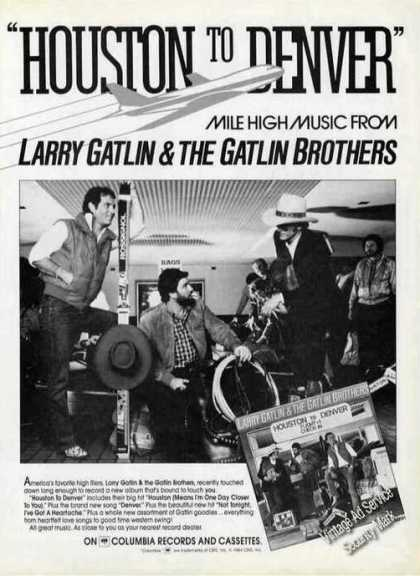 Larry Gatlin & Brothers Photo Rare Album Promo (1984)