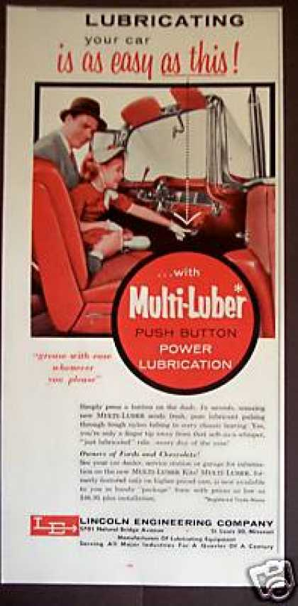 Multi-luber Push Button Car Lubrication (1956)