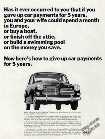 "Volvo ""Give Up Car Payments for 5 Years"" Rare (1965)"