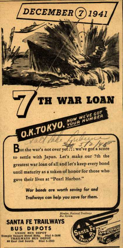 Sante Fe Trailway's 7th War Loan – December 7 1941 (1945)
