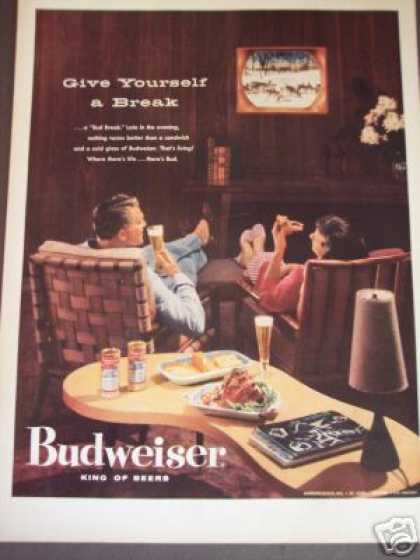 50's Decor Budweiser Beer (1956)