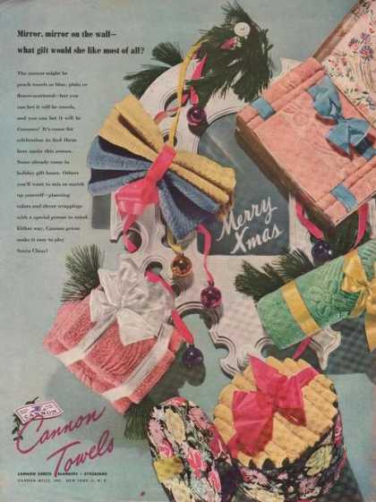 Cannon Towels Sheets Blankets (1946)