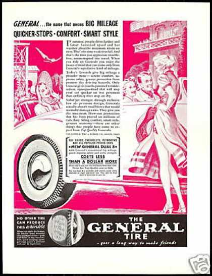 Sexy Legs Women General Tire Convertible (1938)