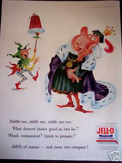 Court Jester Art Jell-o Jello (1956)