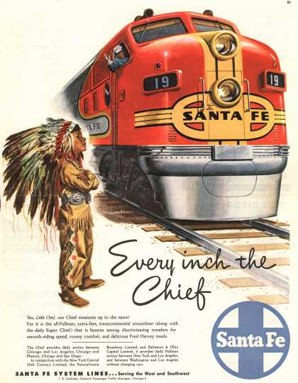 Santa Fe System Lines – Every inch the Chief (1948)