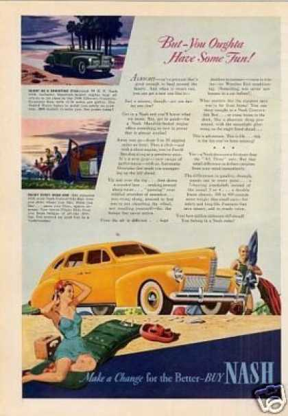 "Nash Car Ad ""But You Oughta Have... (1940)"