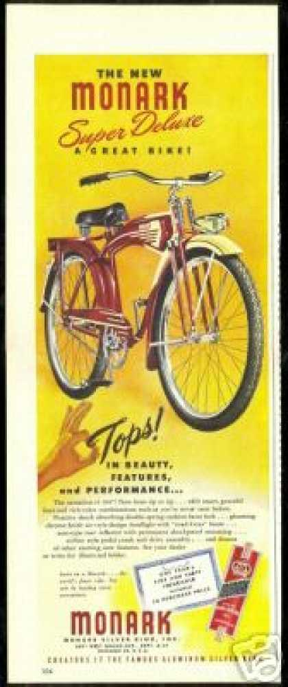 Red & Tan Monark Super Deluxe Bike Bicycle (1947)