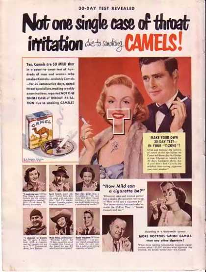 Camels Cigarettes – 30 Day Test in your T-Zone – Sold (1948)