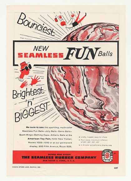 Seamless Rubber Co Fun Ball Toy (1955)