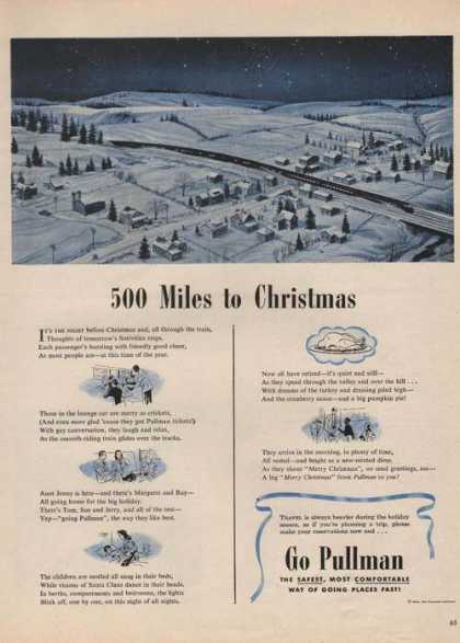 500 Miles To Christmas Go Pullman Train (1946)