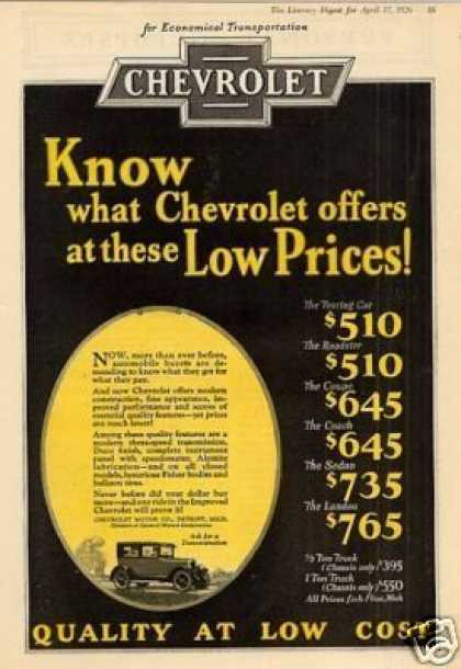 Chevrolet Car Color (1926)