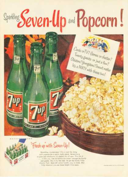 Seven 7 Up Popcorn Bottle Case (1954)