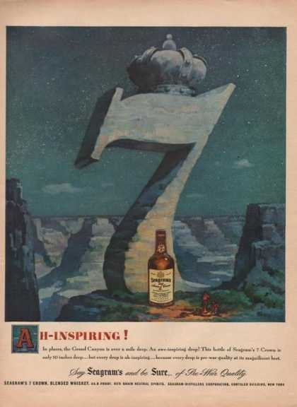 Ah Inspiring Seagrams 7 Whiskey (1949)