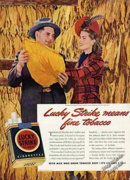 "Lucky Strike ""With Men Who Know Tobacco Best"" (1942)"