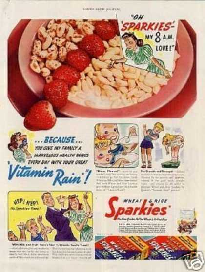 Sparkies Wheat & Rice Cereal (1941)