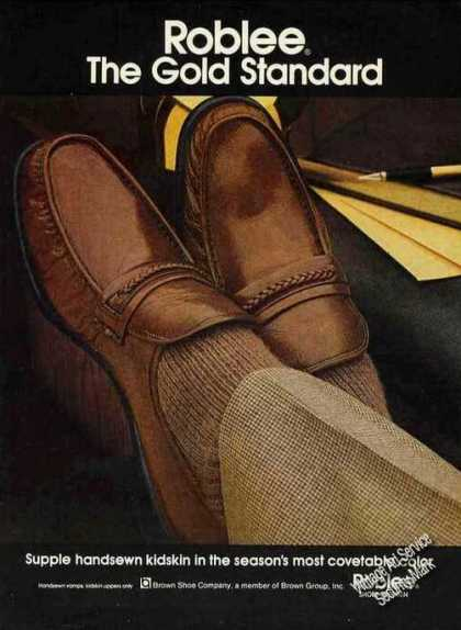 Roblee Shoes for Men Supple Handsewn Kidskin (1979)