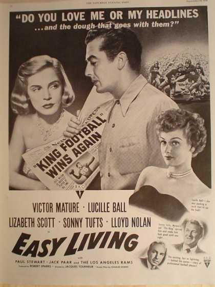 Movie Easy Living Lucille Ball Victor Mature (1949)
