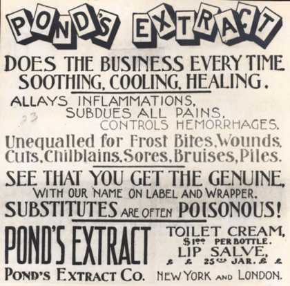 Pond's Extract Co.'s Pond's Extract – Pond's Extract (1898)