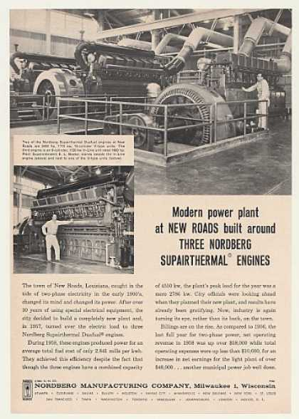New Roads LA Power Plant Nordberg Engines (1960)