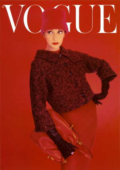 Vogue Cover, Red Rose, August (1956)