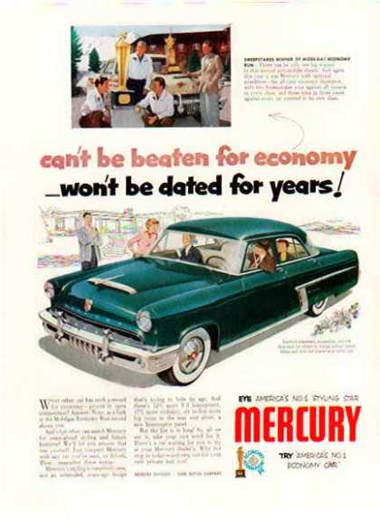 Green Mercury Monterey Car – Blue (1952)