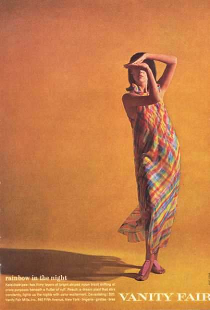 Vanity Fair Dress Rainbow Fashion Bret Stern (1966)