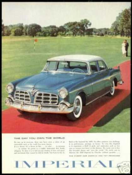 Chrysler Imperial 4dr Golf Course Photo (1955)