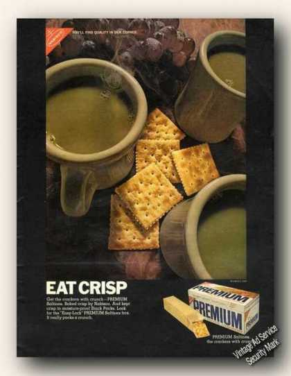 Premium Saltines Eat Crisp Nabisco Color (1968)