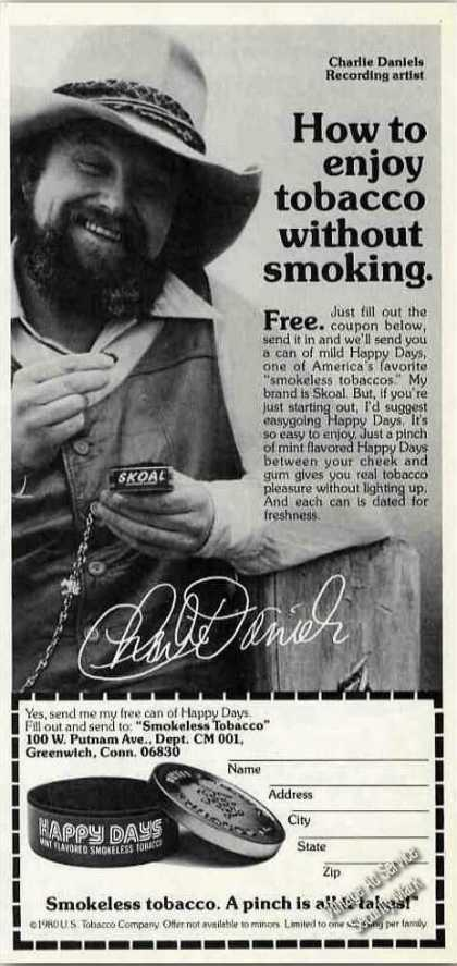 Charlie Daniels Photo Happy Days Smokeless (1980)
