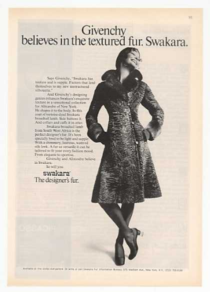 Givenchy Swakara Broadtail Lamb Fur Coat (1971)