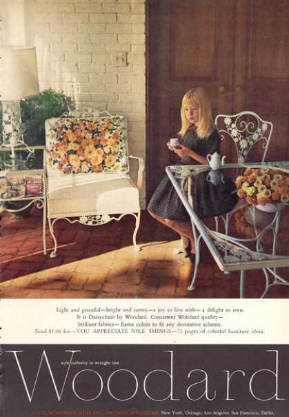 Woodard Wrought Iron Furniture (1963)