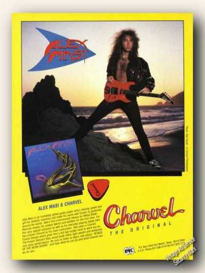 Alex Masi Photo Charvel Guitars Promo (1989)