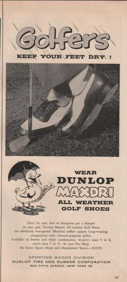 Dunlop Maxdri All Weather Golf Shoes (1955)