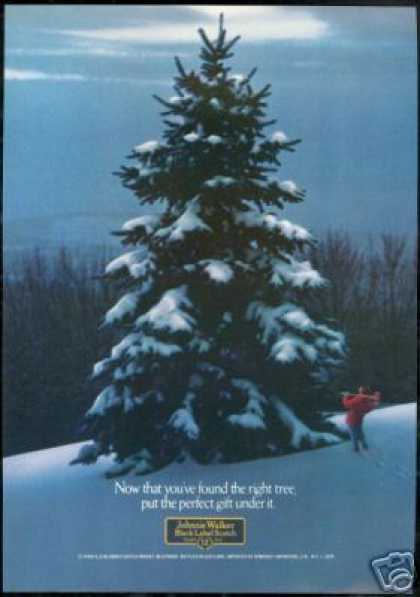 Perfect Christmas Tree Johnnie Walker Scotch (1979)