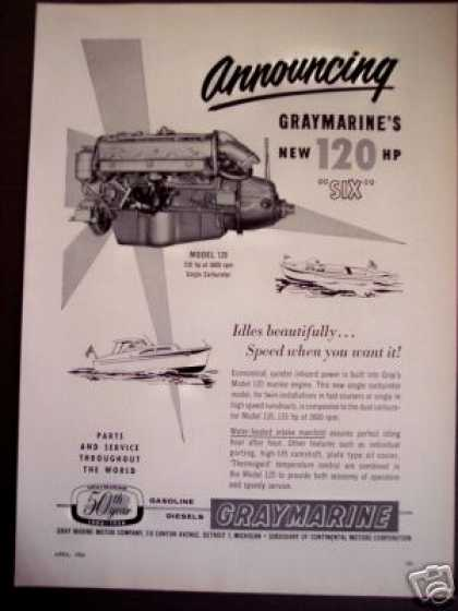 Gray Marine Boat Engines Model 120 Hp Six (1956)