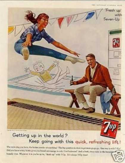 "Seven-up Ad ""Getting Up In the World... (1961)"