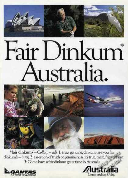 Fair Dinkum Australia Photos Qantas Travel (1991)