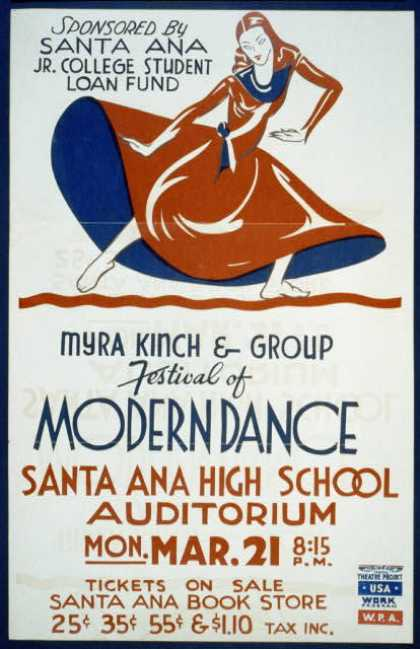 "Myra Kinch & group ""Festival of modern dance"". (1938)"