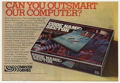 Parker Code Name Sector Computer Game (1977)