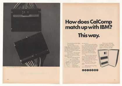 Calcomp CD 22 Disk Plugs into IBM Computer (1971)
