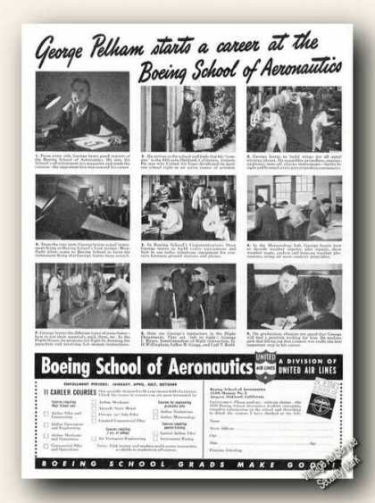 Boeing School of Aeronautics Oakland Ca (1939)