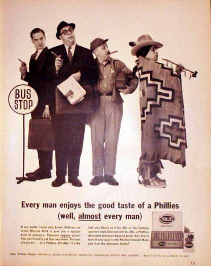 Phillies Blunt Cigars – Bus Stop – Sold (1962)