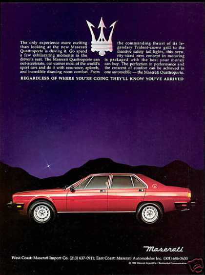 Maserati Quattroporte 4 Door Car Photo (1985)