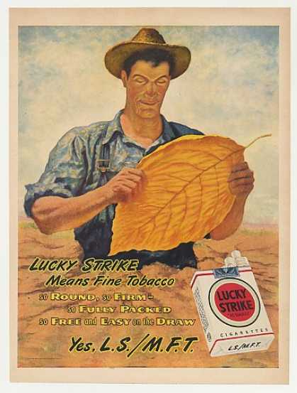 Lucky Strike Cigarette Fine Tobacco Farmer Leaf (1946)