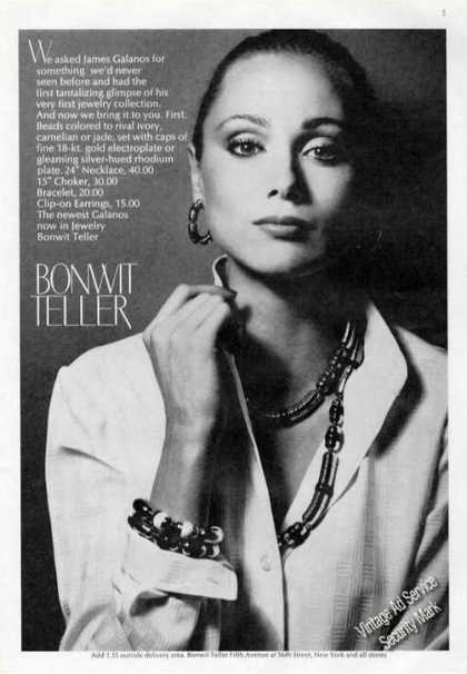 James Galanos Design Jewelry Bonwit Teller (1975)