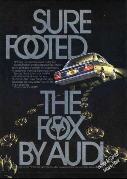 Sure Footed Fox By Audi Ad Dramatic Art (1974)