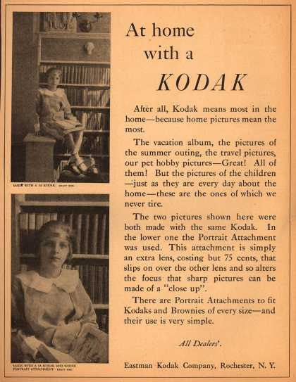 Kodak's Portrait Attachment Lens – At home with a Kodak (1920)